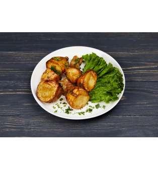 Картопля печена з салом, 200 г.